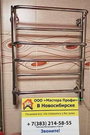Установка полотенцесушителя цена