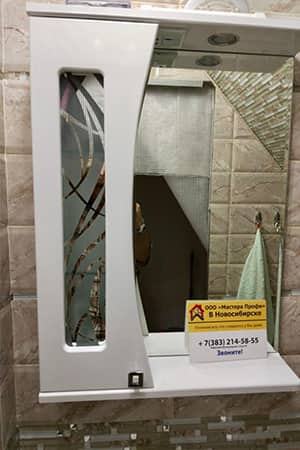 Навеска зеркала в ванной цена