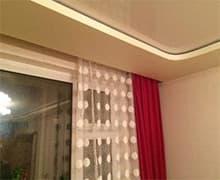 Установка гардины под натяжной потолок цена