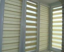 Установка рулонных штор на балконе цена