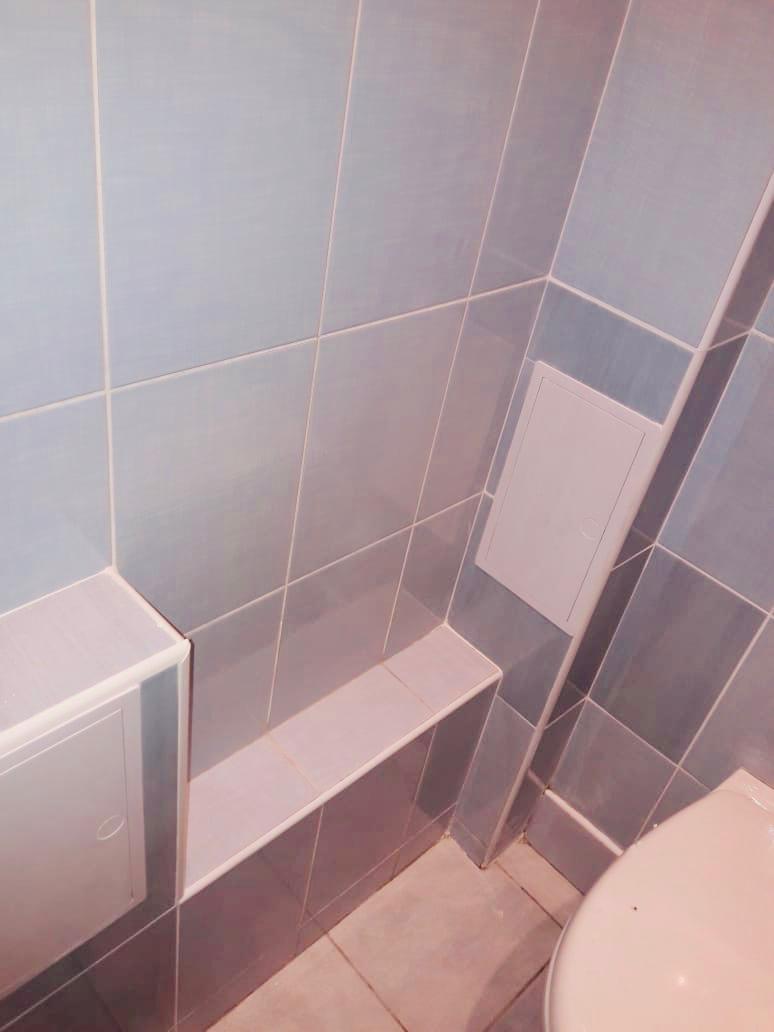 Выполненная работа - 'Монтаж короба в ванной комнате'